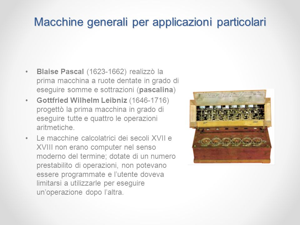 Macchine generali per applicazioni particolari