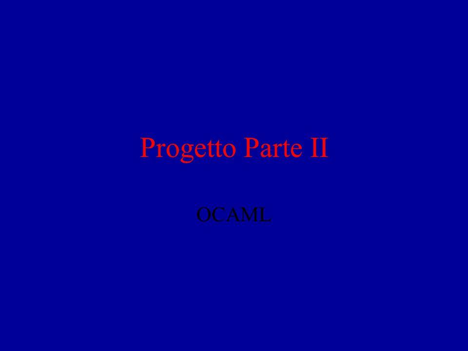 Progetto Parte II OCAML