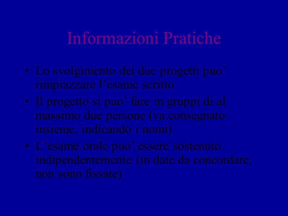 Informazioni Pratiche
