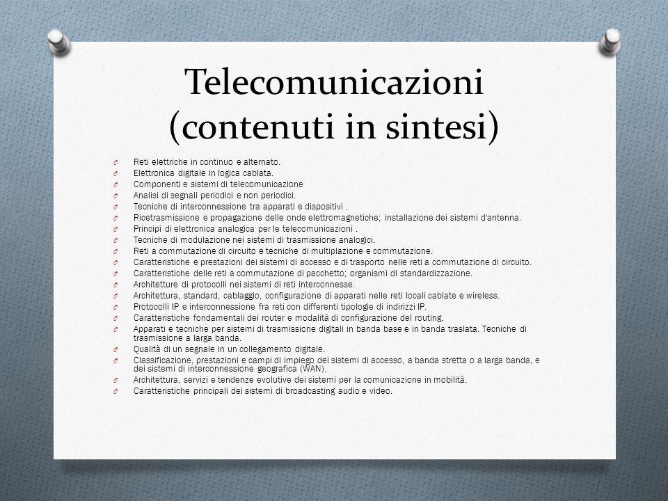 Telecomunicazioni (contenuti in sintesi)