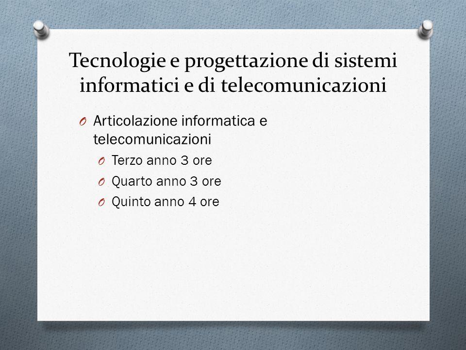 Tecnologie e progettazione di sistemi informatici e di telecomunicazioni