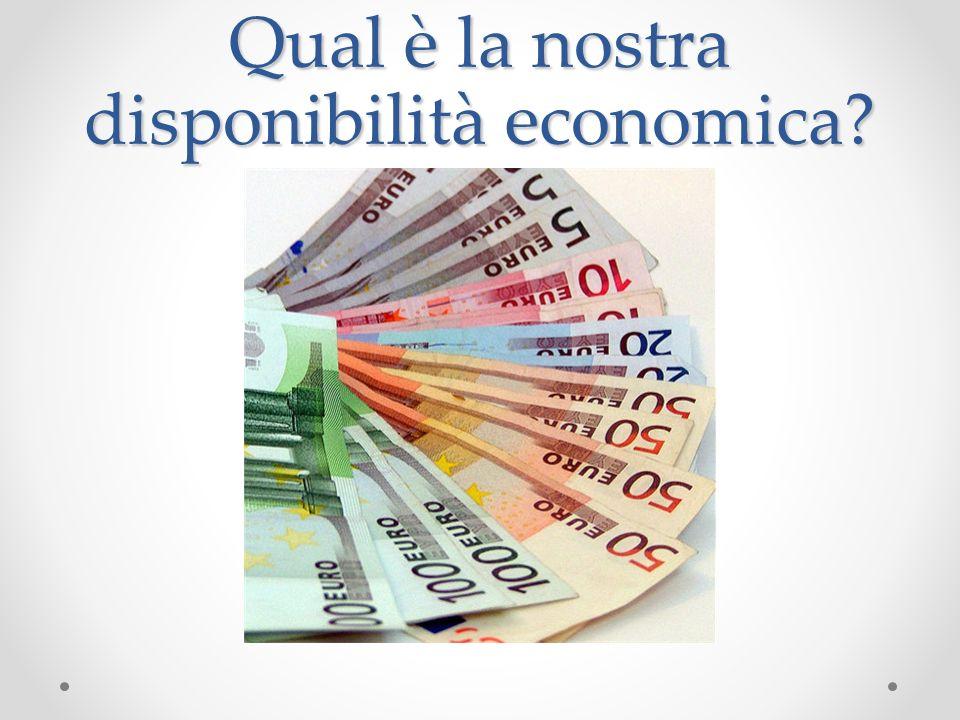 Qual è la nostra disponibilità economica