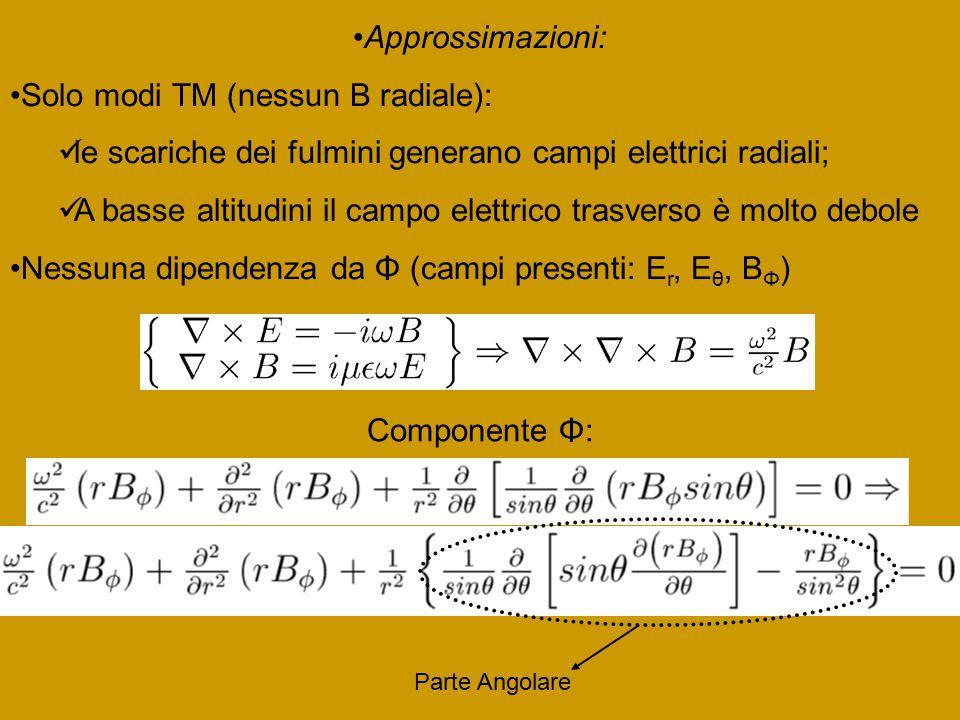 Solo modi TM (nessun B radiale):