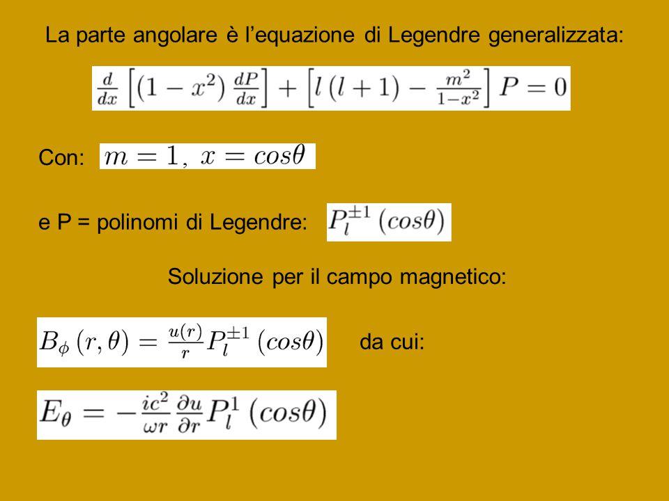 La parte angolare è l'equazione di Legendre generalizzata: