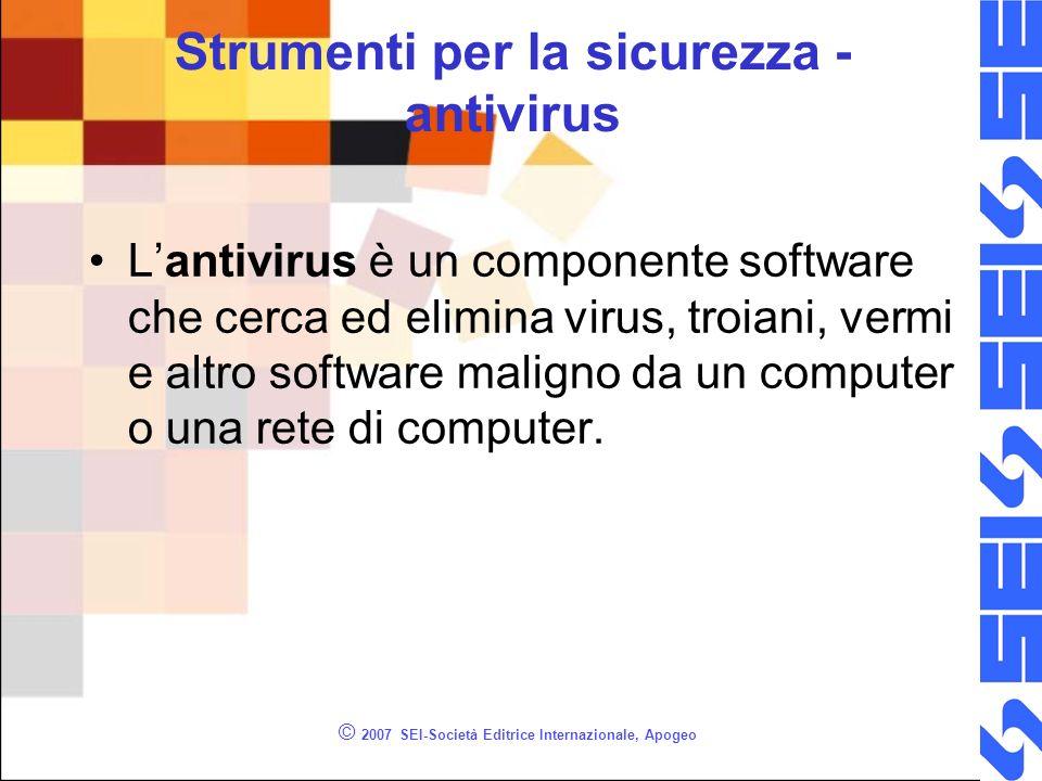Strumenti per la sicurezza - antivirus
