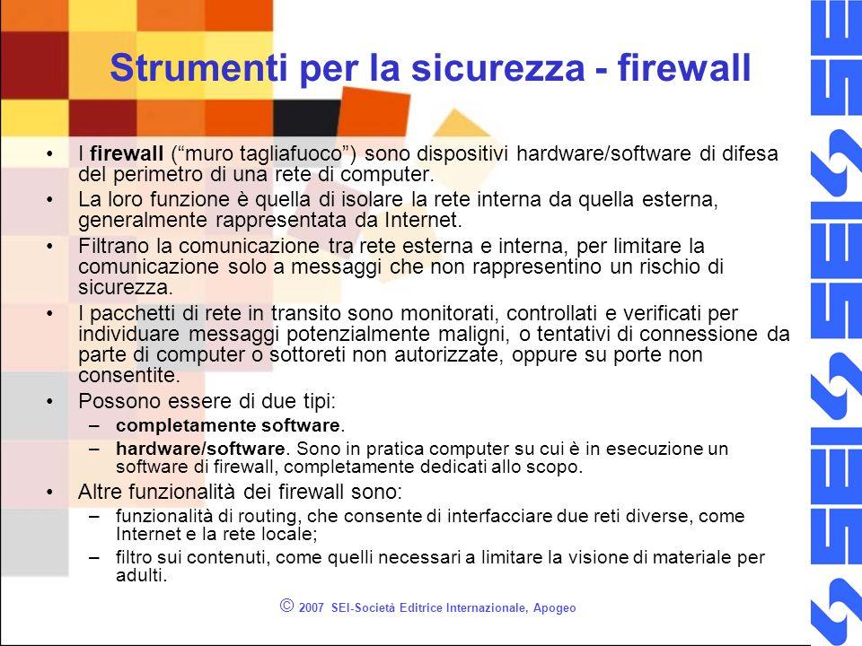 Strumenti per la sicurezza - firewall