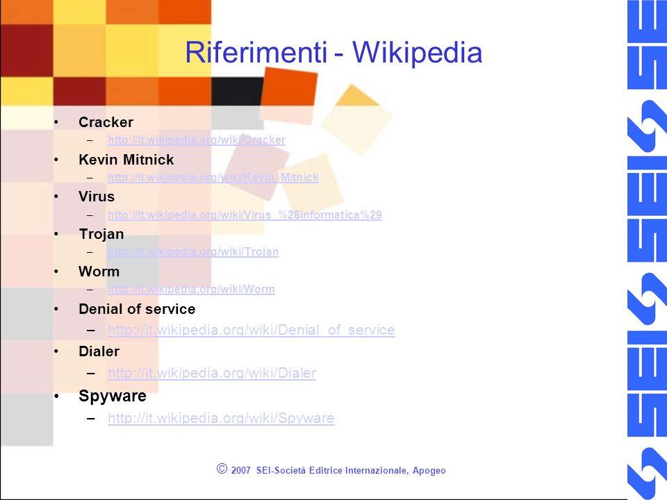 Riferimenti - Wikipedia