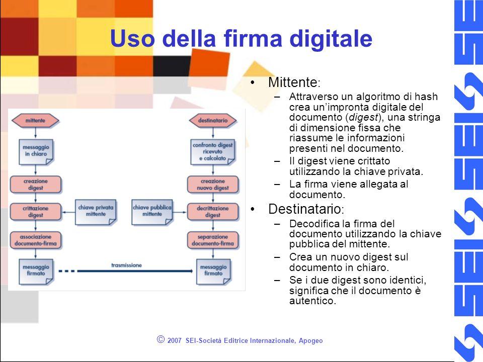 Uso della firma digitale