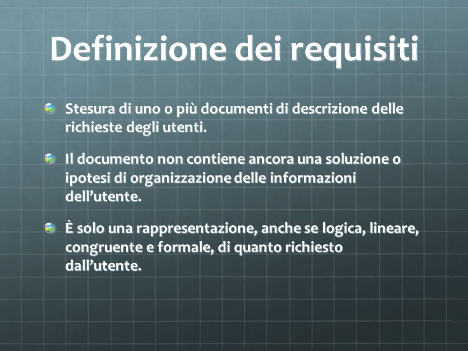 Definizione dei requisiti