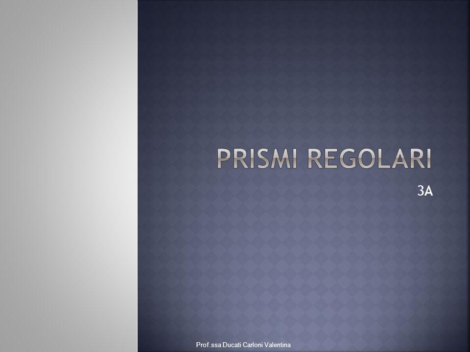 PRISMI REGOLARI 3A Prof.ssa Ducati Carloni Valentina