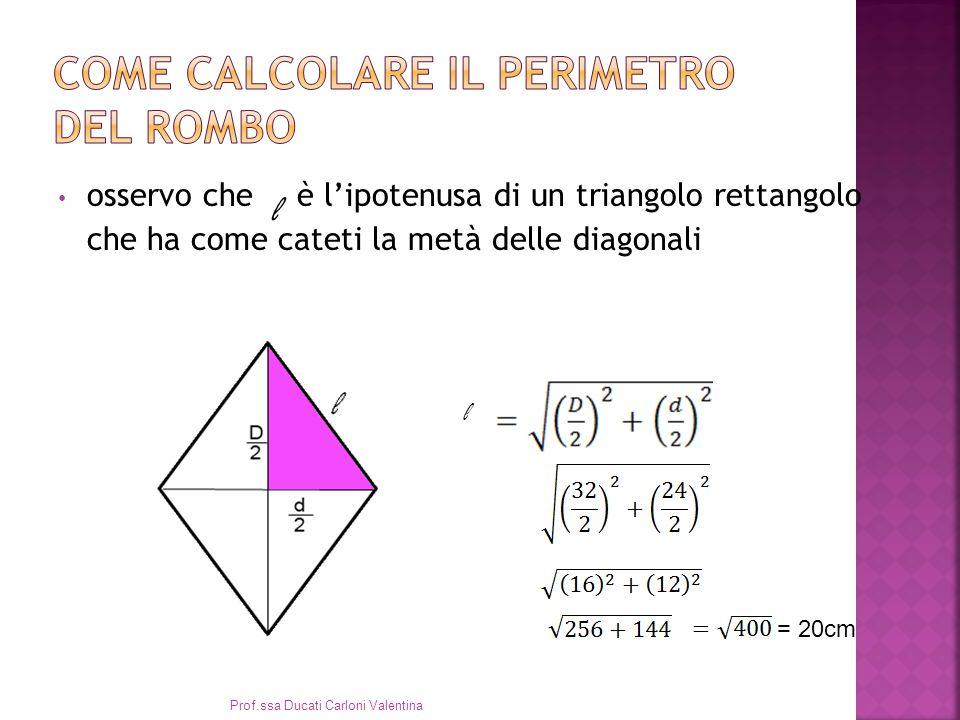 Come calcolare il perimetro del rombo