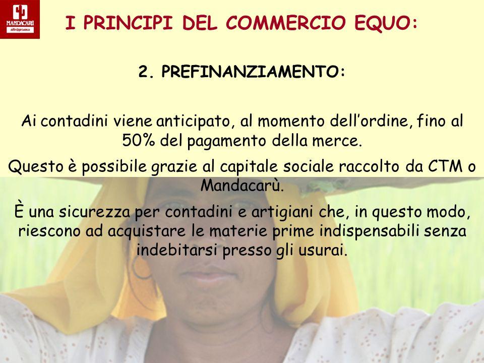 I PRINCIPI DEL COMMERCIO EQUO: