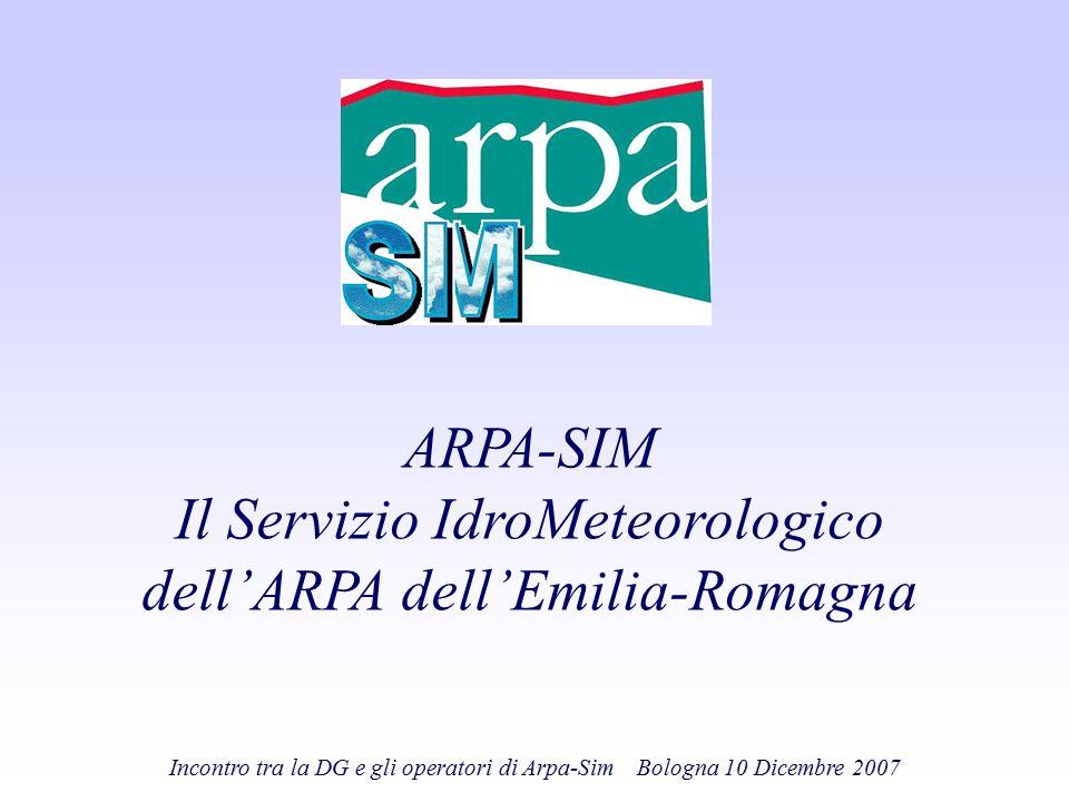 Il Servizio IdroMeteorologico dell'ARPA dell'Emilia-Romagna