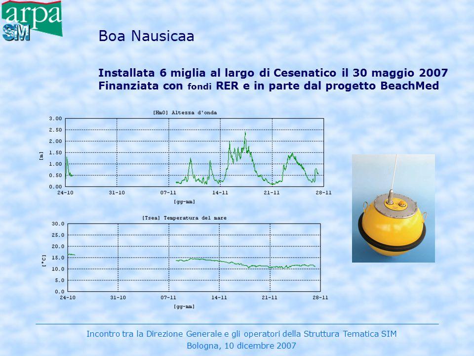 Boa Nausicaa Installata 6 miglia al largo di Cesenatico il 30 maggio 2007 Finanziata con fondi RER e in parte dal progetto BeachMed