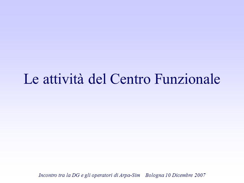 Le attività del Centro Funzionale