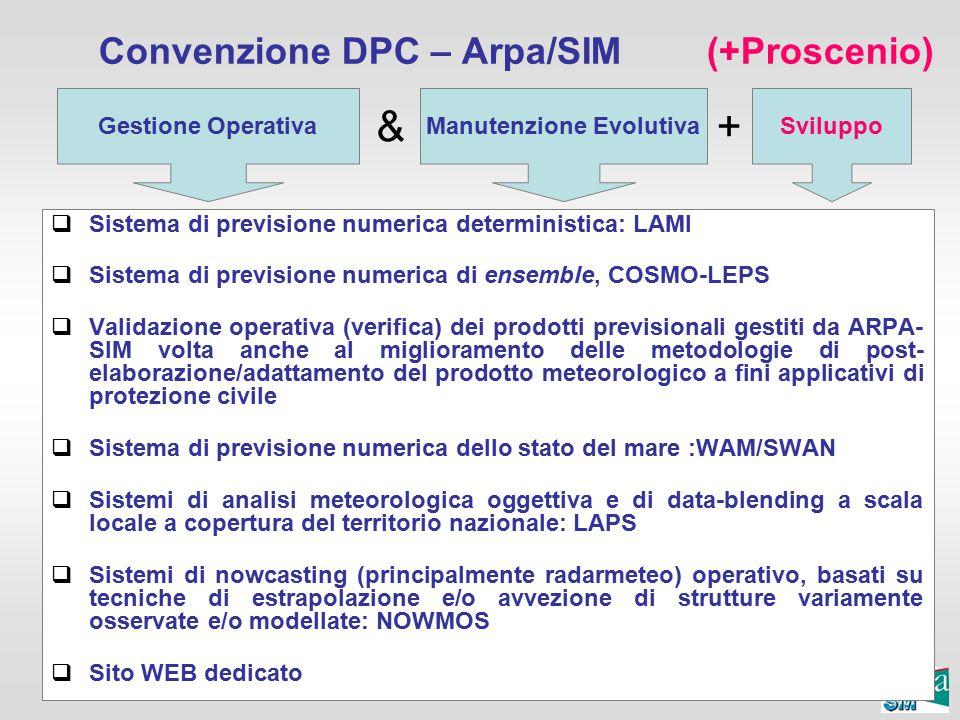 Convenzione DPC – Arpa/SIM (+Proscenio)