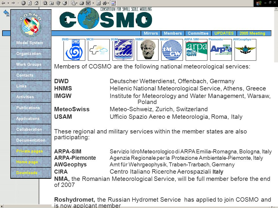 Romanian Meteorological Service is associated partner of COSMO