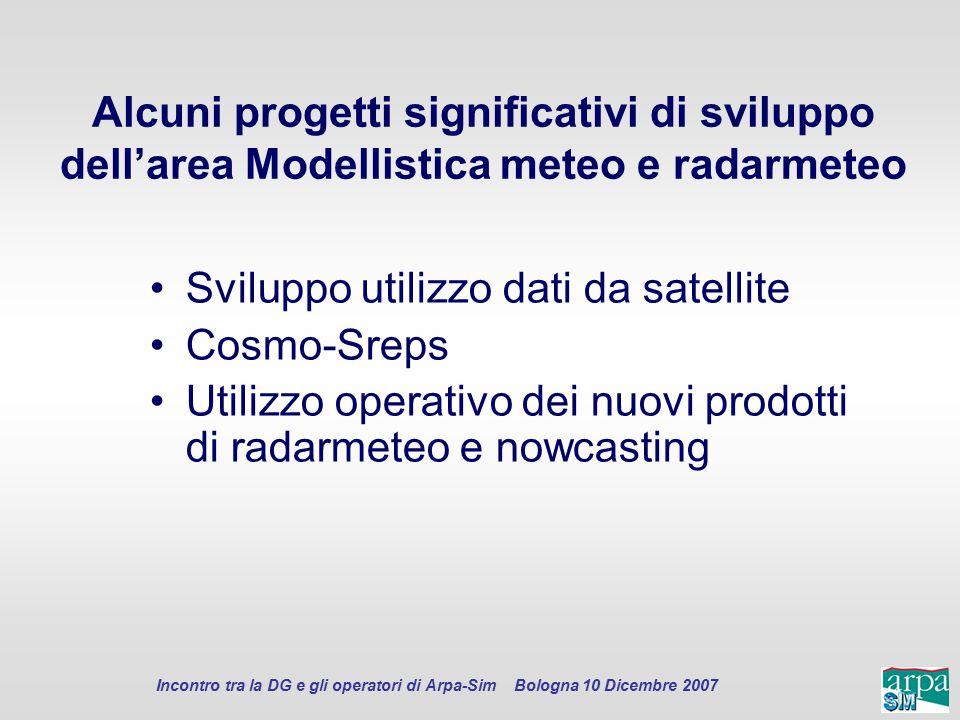 Sviluppo utilizzo dati da satellite Cosmo-Sreps
