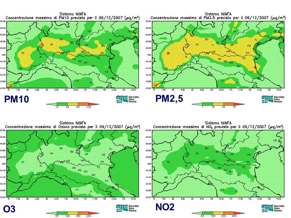 PM10 PM2,5 NO2 O3 Incontro tra la DG e gli operatori di Arpa-Sim Bologna 10 Dicembre 2007
