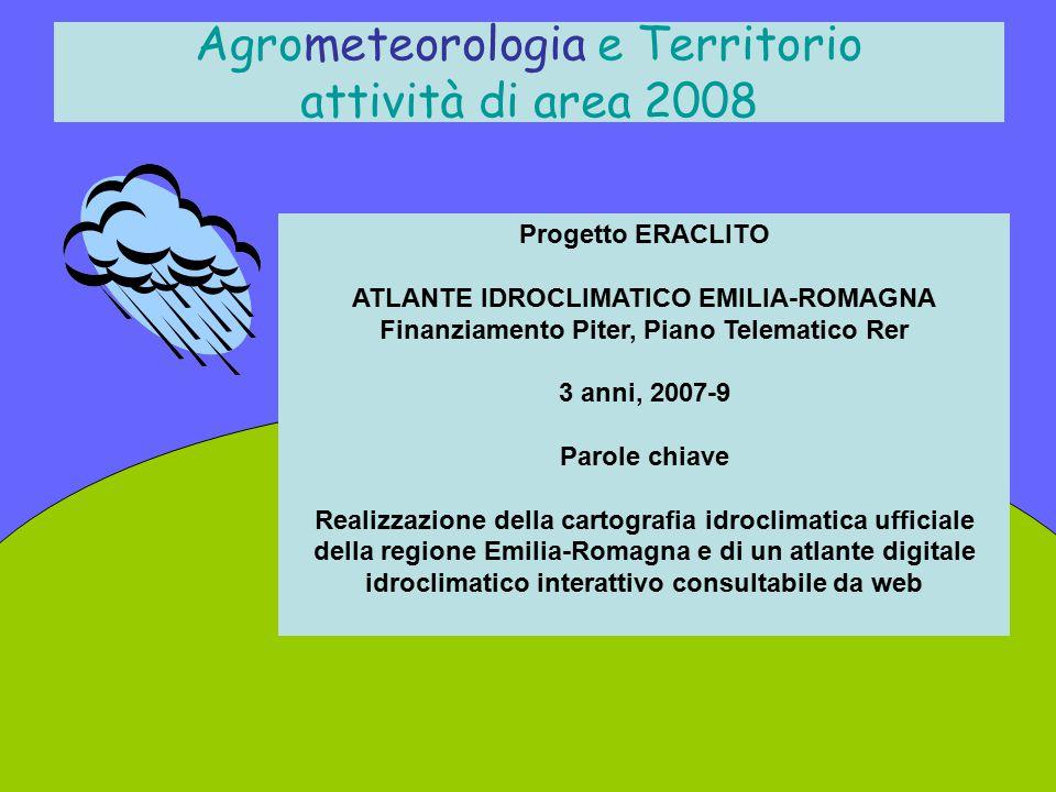 Agrometeorologia e Territorio attività di area 2008