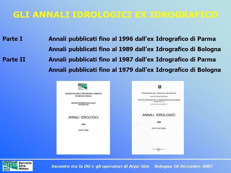 GLI ANNALI IDROLOGICI EX IDROGRAFICO