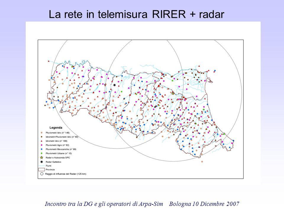 La rete in telemisura RIRER + radar