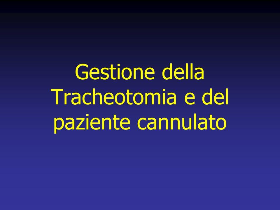 Gestione della Tracheotomia e del paziente cannulato