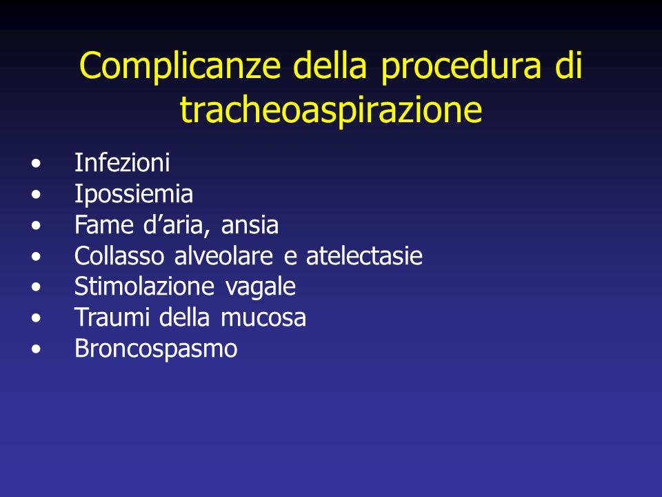 Complicanze della procedura di tracheoaspirazione