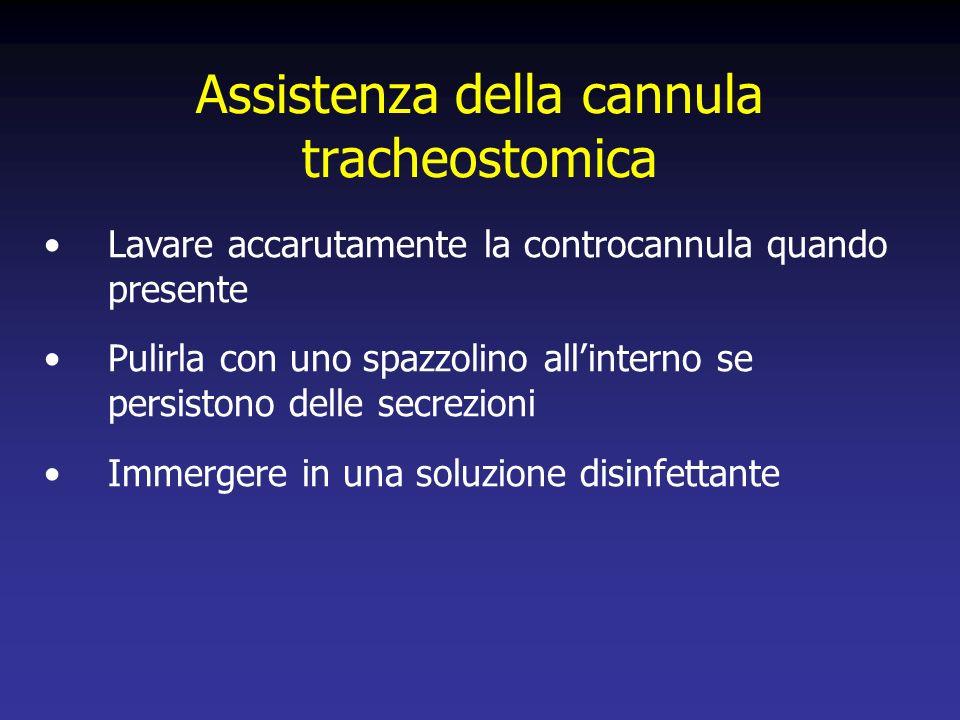 Assistenza della cannula tracheostomica