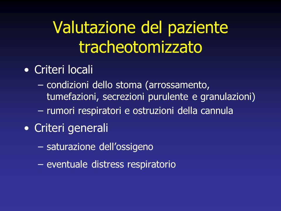 Valutazione del paziente tracheotomizzato