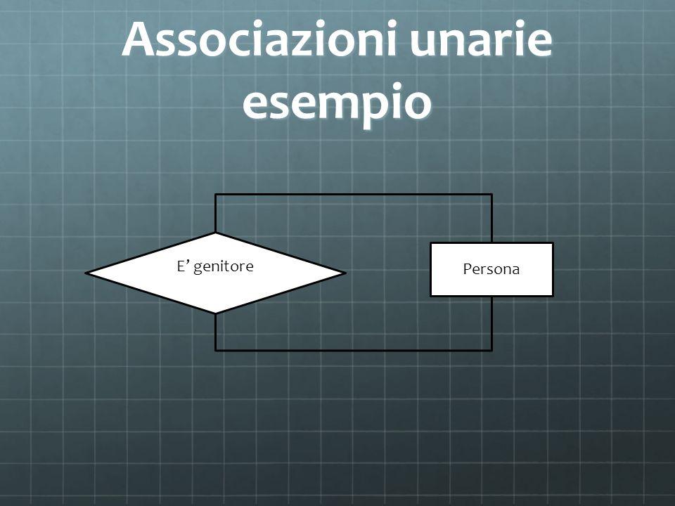 Associazioni unarie esempio