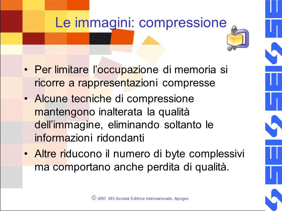 Le immagini: compressione