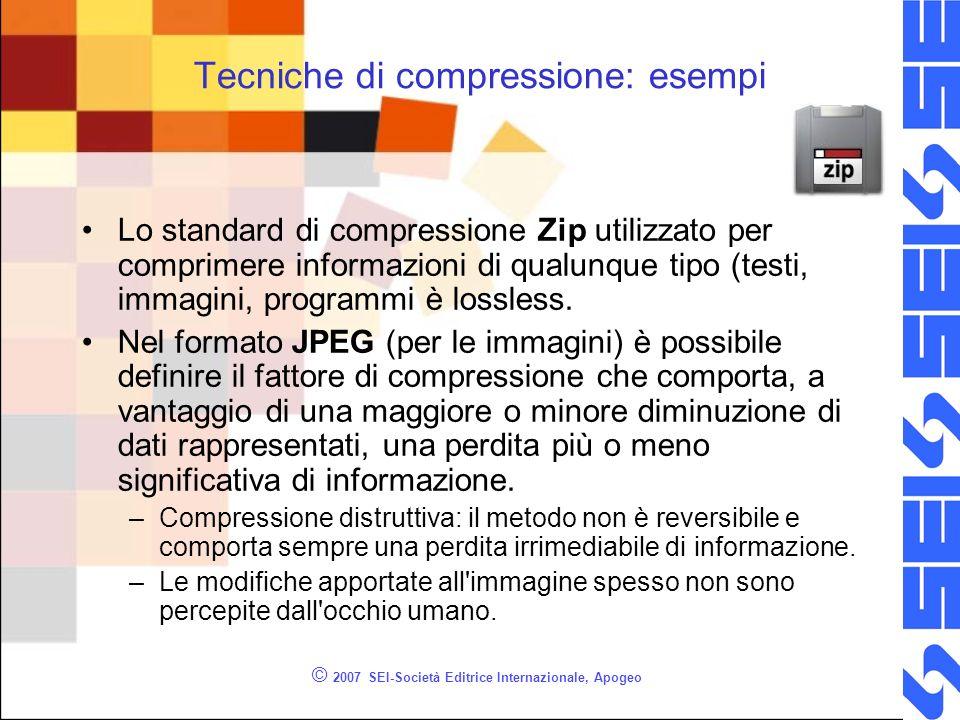 Tecniche di compressione: esempi