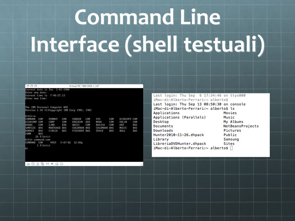 Command Line Interface (shell testuali)
