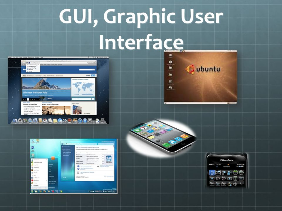 GUI, Graphic User Interface