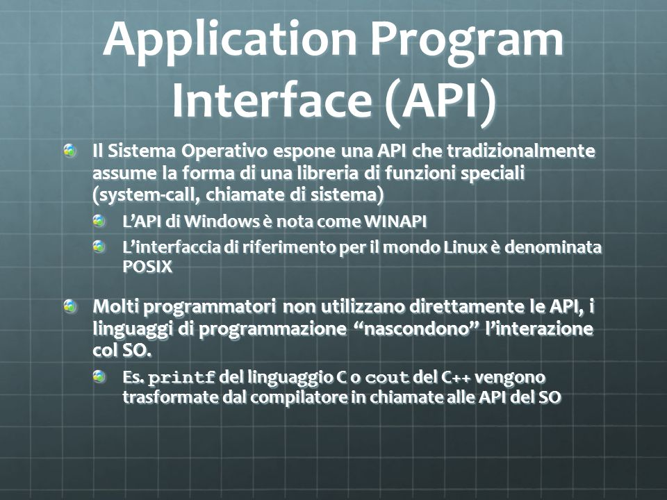 Application Program Interface (API)