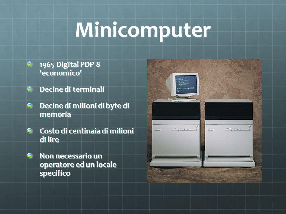 Minicomputer 1965 Digital PDP 8 economico Decine di terminali