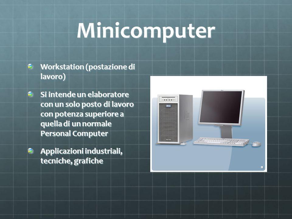 Minicomputer Workstation (postazione di lavoro)