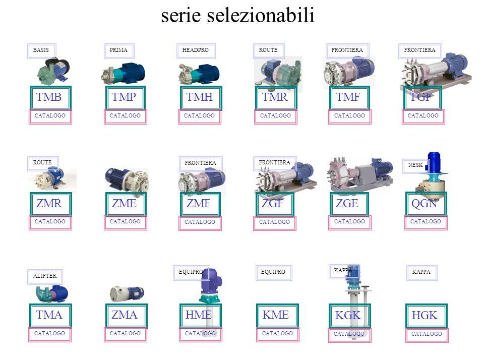 serie selezionabili TMB TMP TMH TMR TMF TGF ZMR ZME ZMF ZGF ZGE QGN