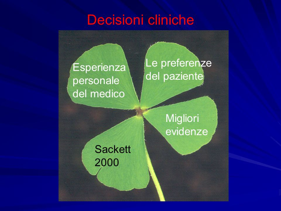 Decisioni cliniche Le preferenze del paziente