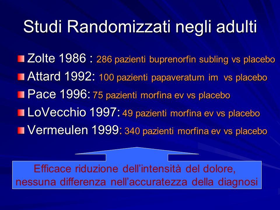 Studi Randomizzati negli adulti