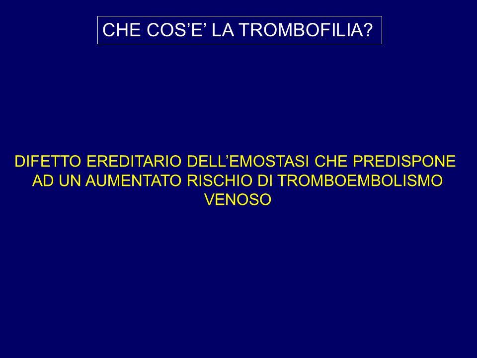 CHE COS'E' LA TROMBOFILIA