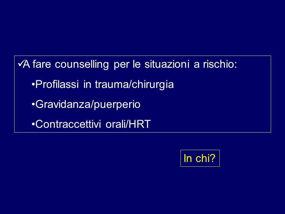 A fare counselling per le situazioni a rischio:
