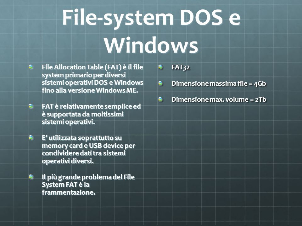 File-system DOS e Windows