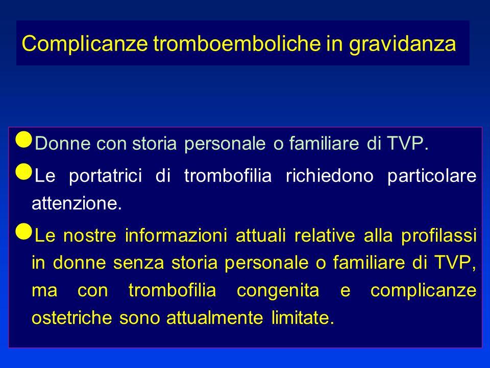 Complicanze tromboemboliche in gravidanza
