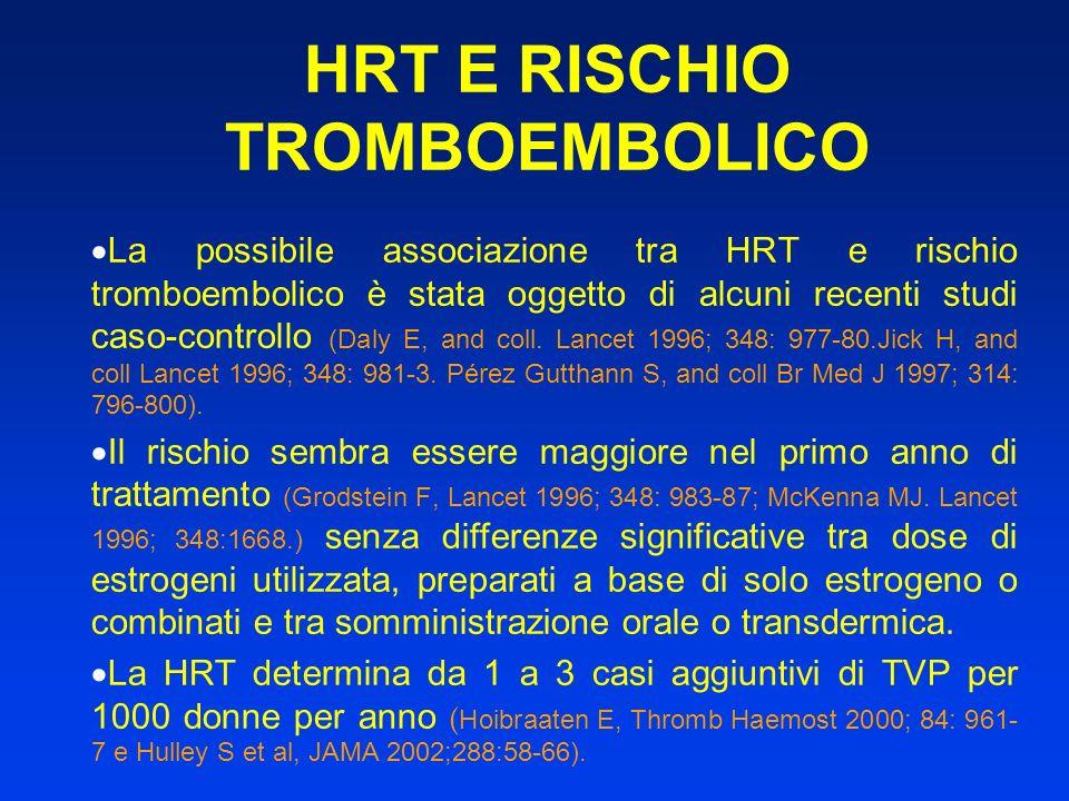 HRT E RISCHIO TROMBOEMBOLICO