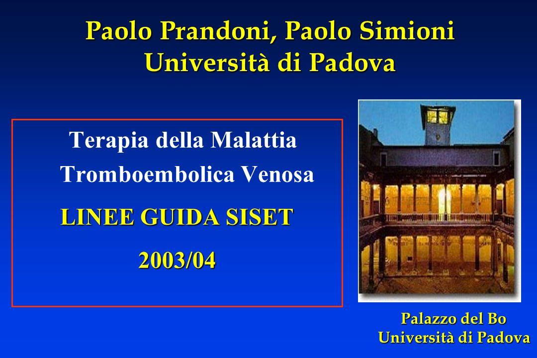 Paolo Prandoni, Paolo Simioni Università di Padova