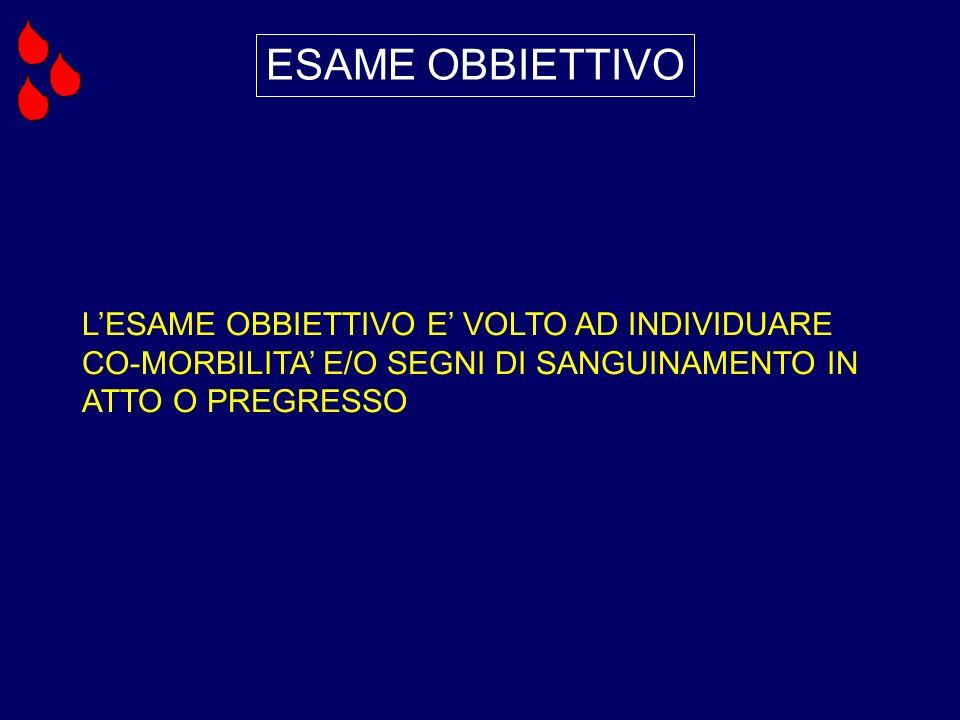 ESAME OBBIETTIVO L'ESAME OBBIETTIVO E' VOLTO AD INDIVIDUARE