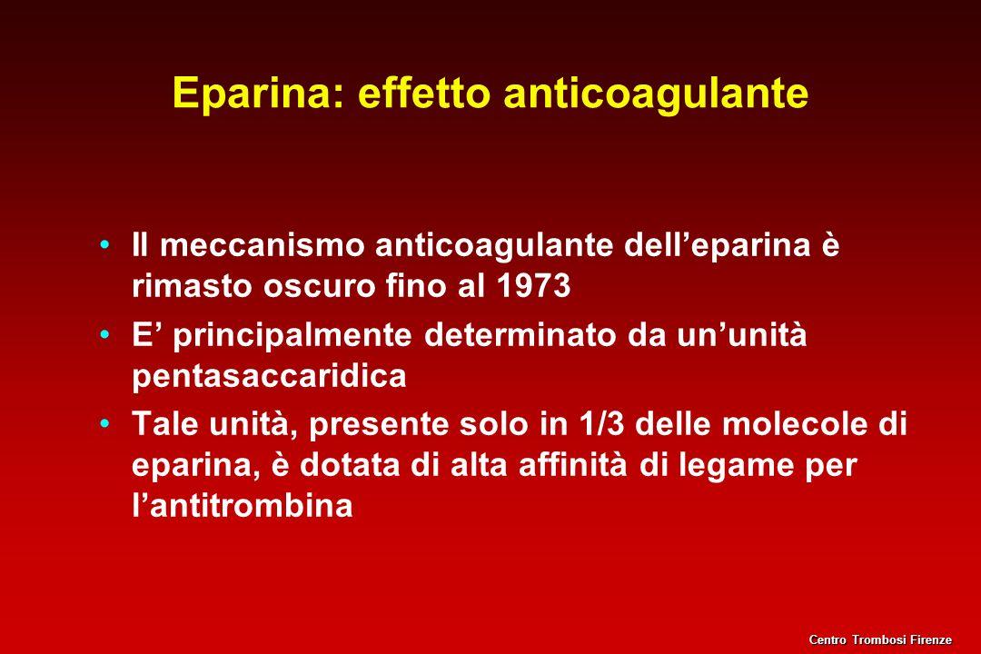 Eparina: effetto anticoagulante