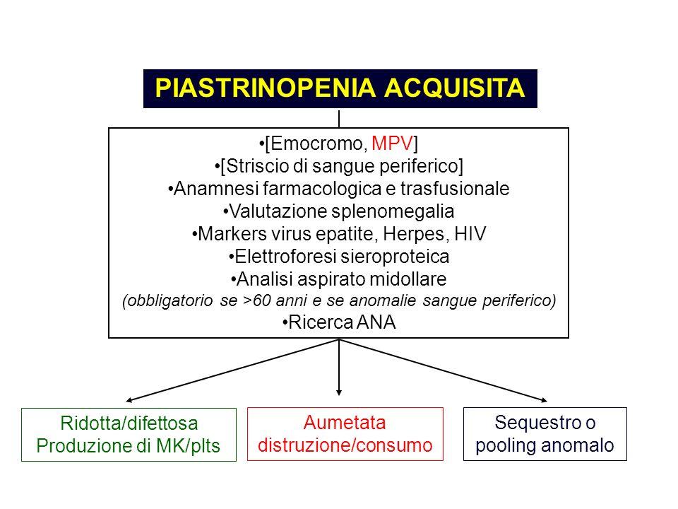 PIASTRINOPENIA ACQUISITA